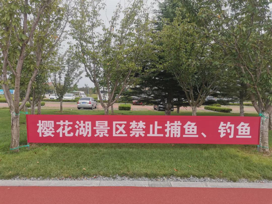 樱花湖体育公园禁止垂钓!请为野生动物提供优美舒适的生活环境