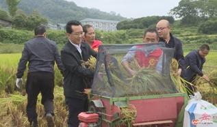 中方:党旗飘扬在抗灾抢收一线