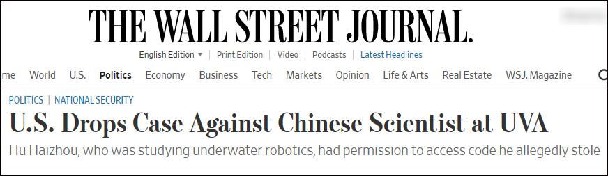 中国学者在美遭华人导师检举
