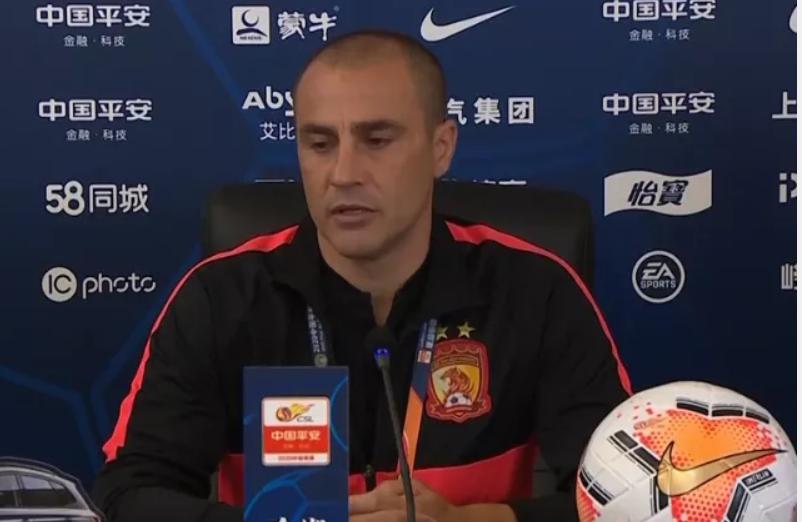卡纳瓦罗:今天实际上都不算是一场比赛,这场比赛是中国足球提高的好课程