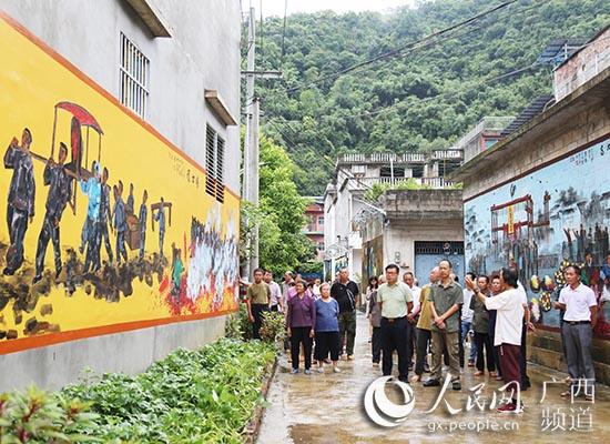 有颜值有内涵 文化墙把大新的乡村变美了