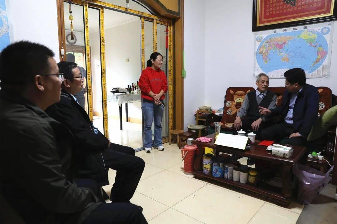"""弋阳县委书记谢柏清开展尊崇退役军人""""大走访、办实事""""活动"""