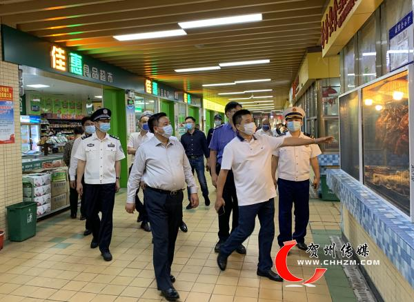 贺州市长林冠调研检查安全生产和社会维稳工作
