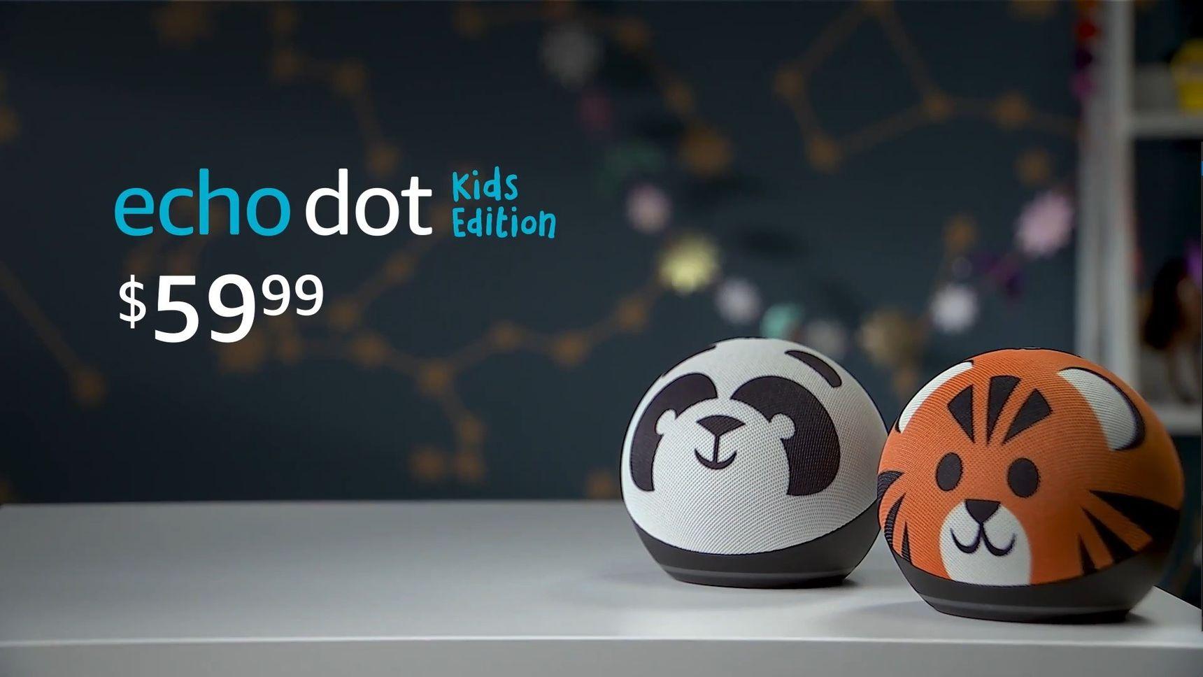 亚马逊带来球型 Echo Dot 智能音箱,还有可爱的儿童版