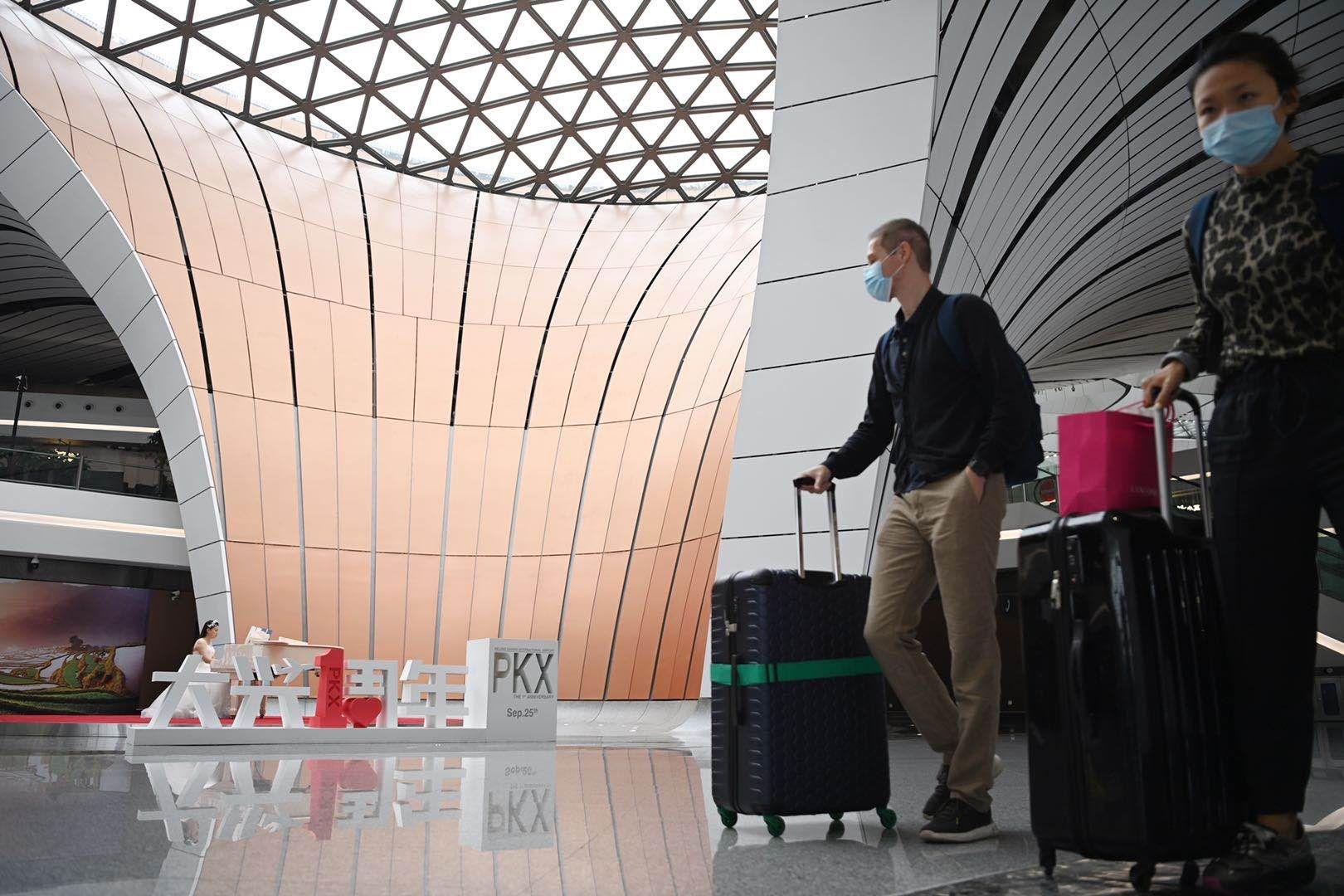 大兴机场国庆假期热门航线机票紧张,出行高峰下周二开始图片