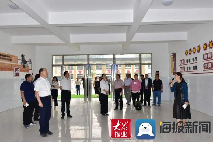 成武县人大常委会视察城区学校建设工作