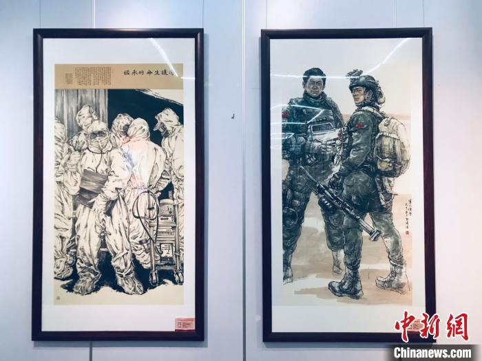 新人新作美术作品展览举办 呈现中国传统水墨画特色