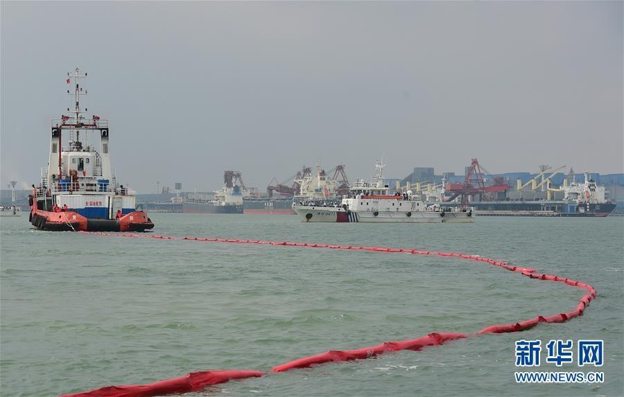 2020年河北海域船载危险化学品污染事故应急演习举行