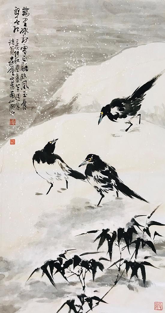 陈向民花鸟画:墨色醇厚 笔在意先