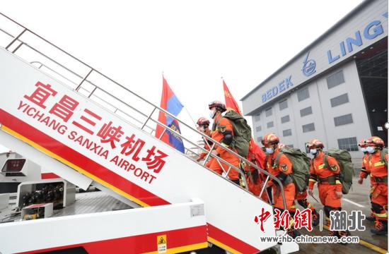 宜昌消防举行跨区域地震救援力量航空投送实战演练