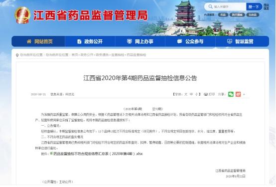 江西13批次药品不合规 含中国医药子公司与益盛药业