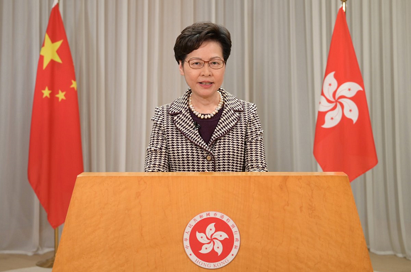 """林郑月娥:香港警方界定""""传媒代表""""非打压新闻自由或筛选记者"""