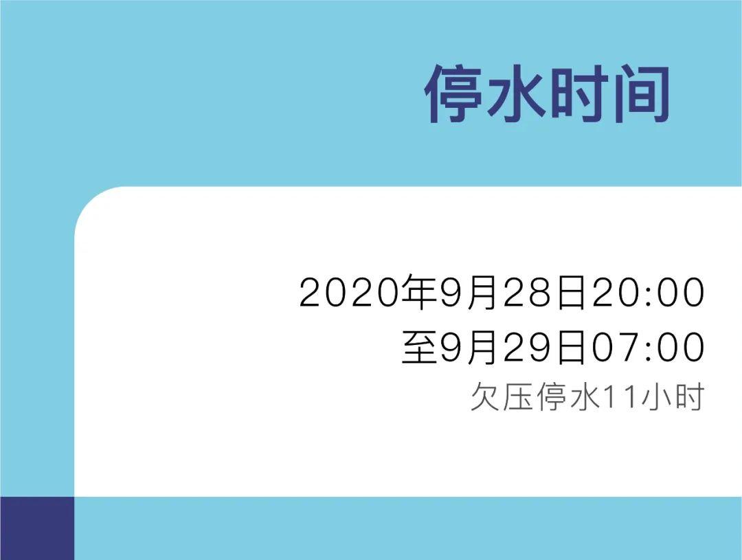 【提醒】今日江北这些区域将要停水图片