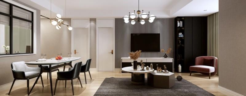 130平米房子现代风装修,融入各种经典装修元素,三居室美翻了!