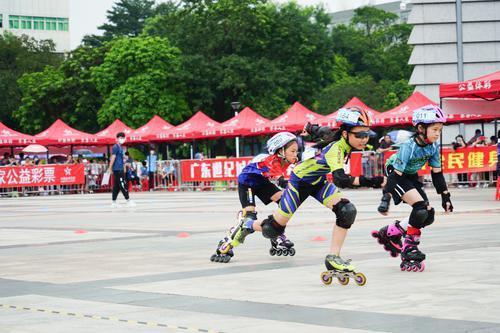 东莞市第三届市民运动会轮滑比赛开赛