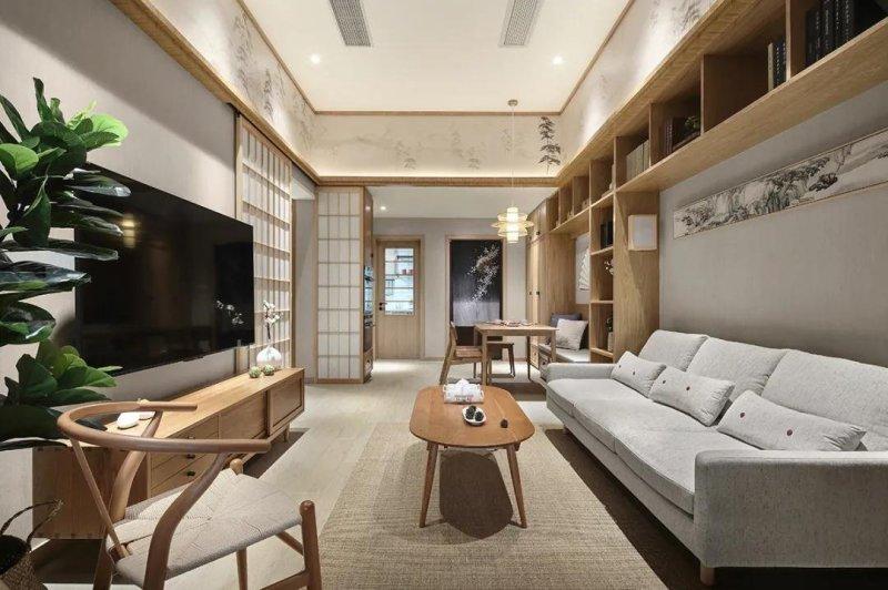 惊艳日式风,宅家也自在,85平米的三居室让人每天都元气满满。