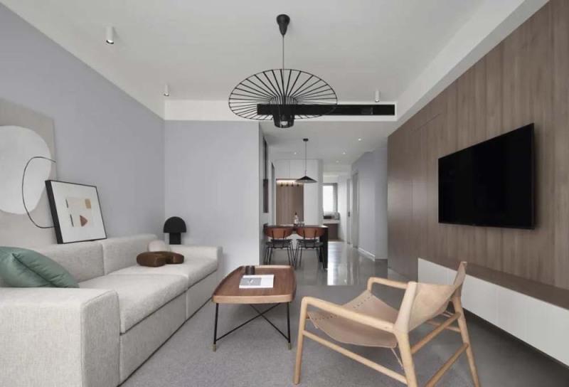 115平米现代风装修,三居室的房子越看越有品 !