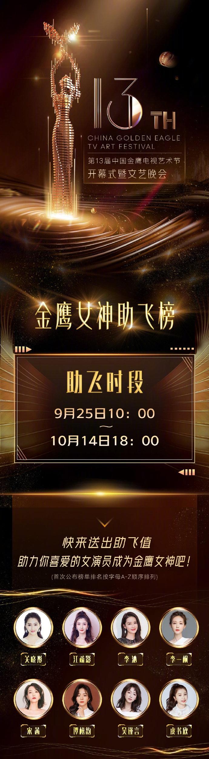 2020金鹰女神候选名单曝光关晓彤宋茜谭松韵等竞争