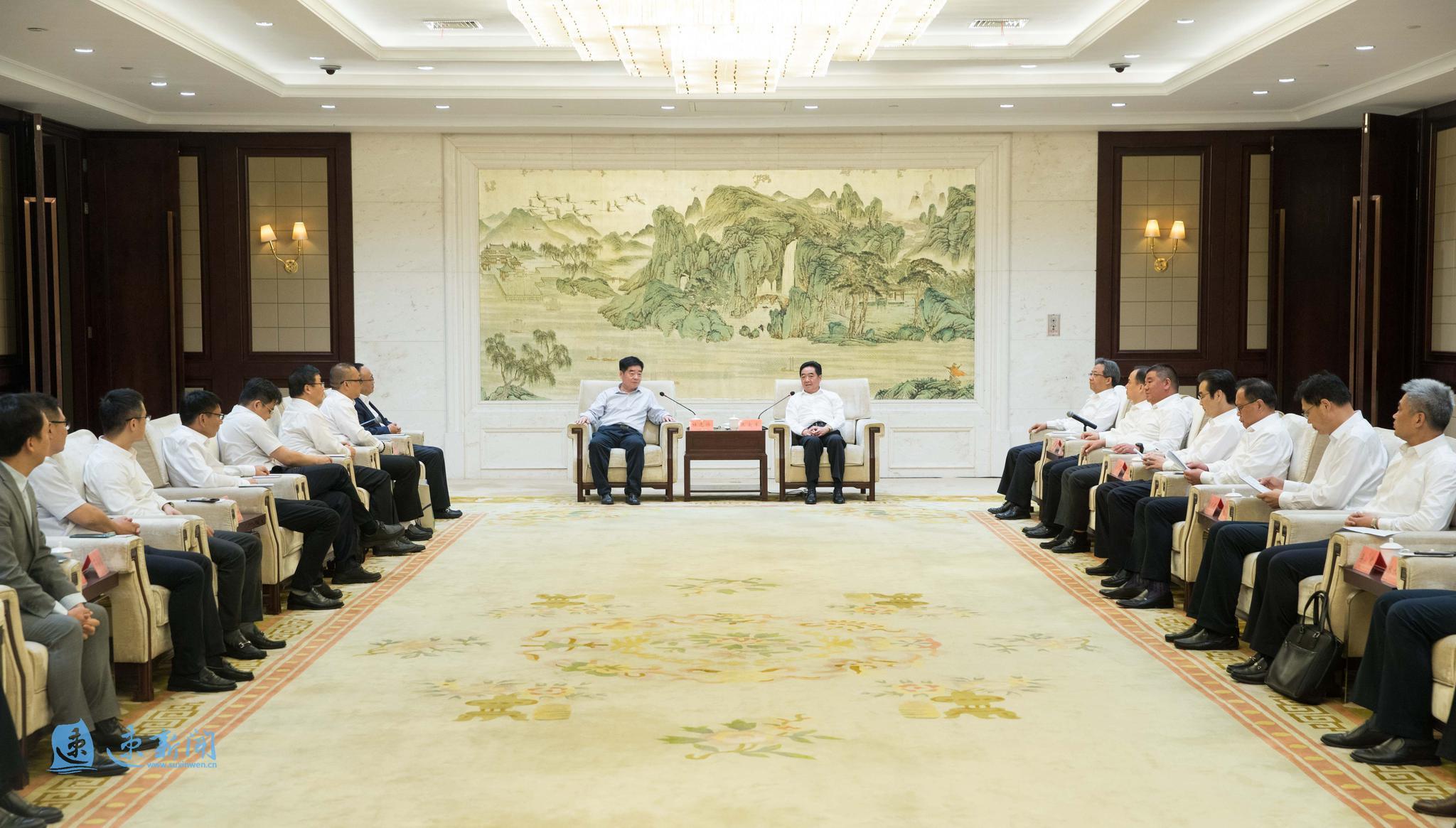 张爱军王昊会见出席2020中国·宿迁绿色产业洽谈会嘉宾代表