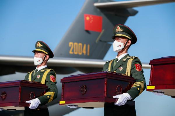 第七批在韩志愿军烈士遗骸归来,抗美援朝战争70周年祖国以最高礼仪迎接