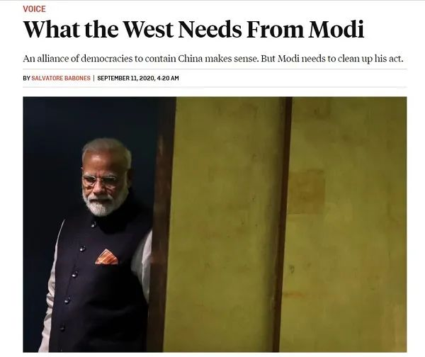 美专家:中印发生冲突后 为什么西方不愿意支持莫迪?图片