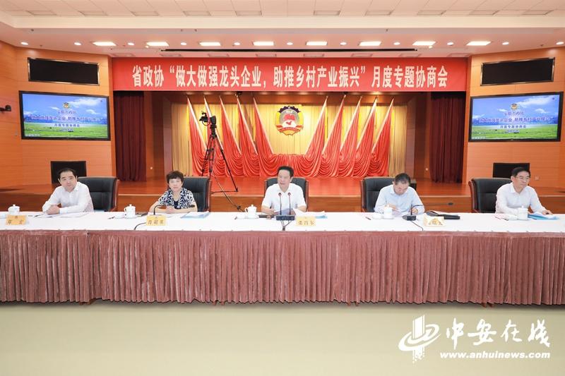 @农业龙头企业 省政协召开月度协商会支招乡村产业振兴