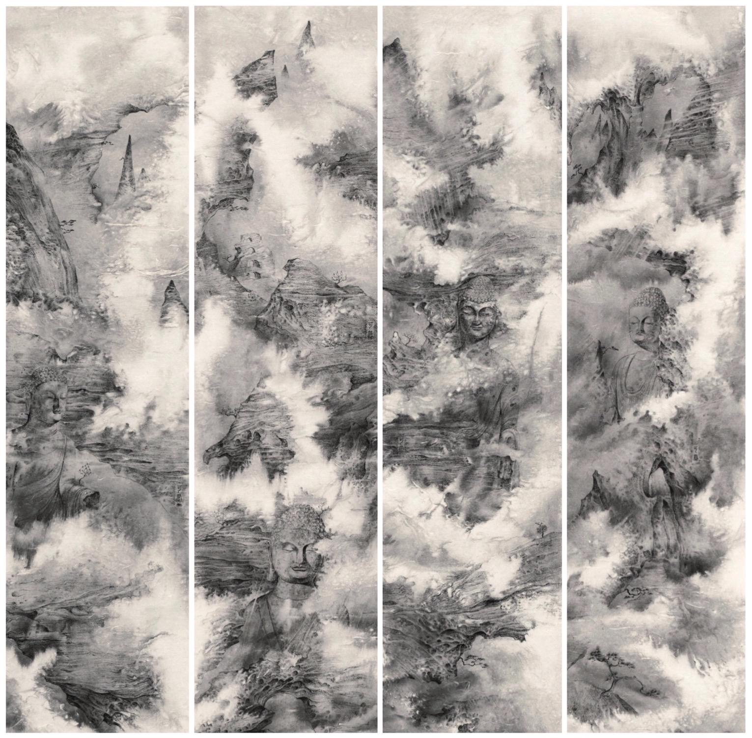 为中国画找回色彩的灵魂,第四届泼彩画双年展开展