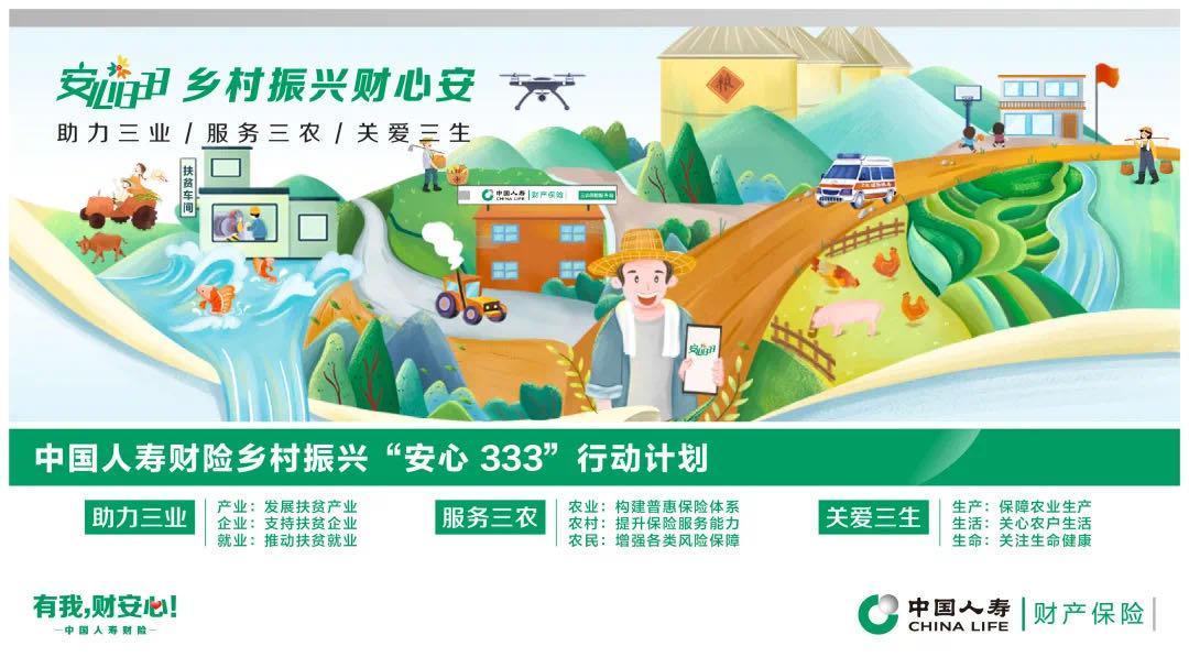 """中国人寿财险发布助力脱贫攻坚和乡村振兴""""安心333""""行动计划"""