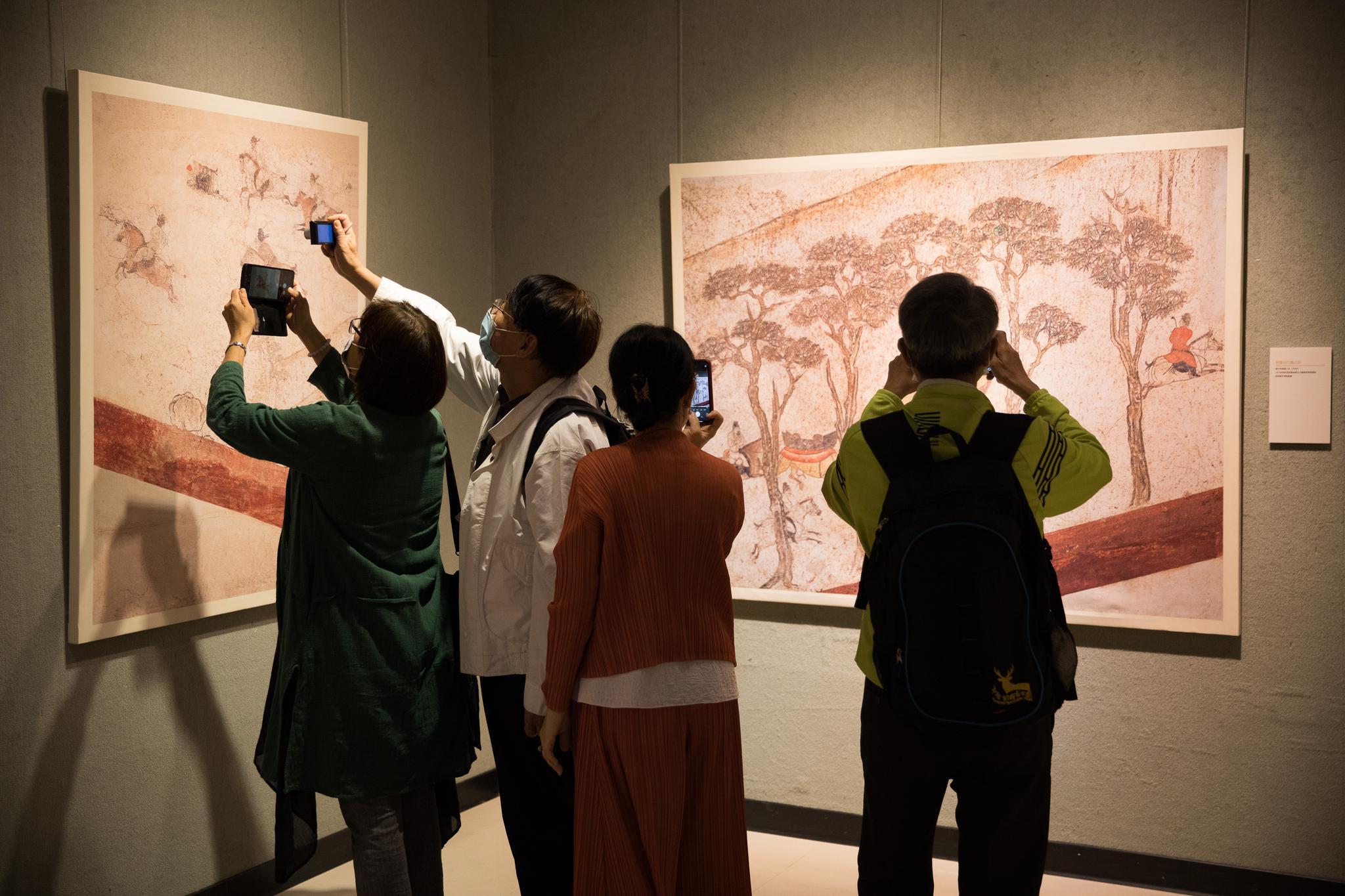唐代墓室壁画首次在台湾巡展
