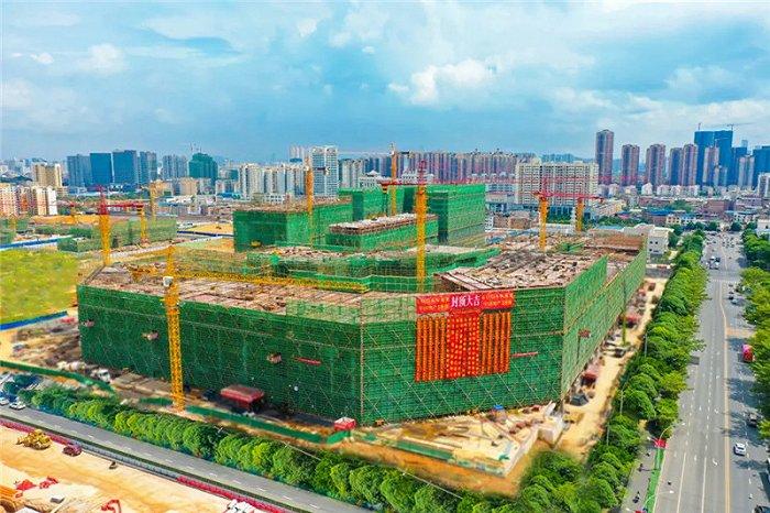 贺南宁龙光商业广场楼体局部封顶!9月28日媒体发布会,见证城市更新!