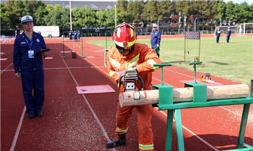 上海开展消防灭火救援装备业务比武竞赛