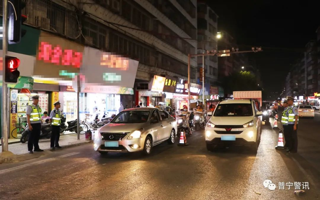 普宁警方昨晚在全市发动清查袭击 拘留