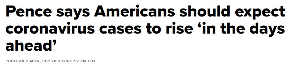彭斯和福奇均称未来美国病例会增加:确诊数和死亡数