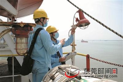 东莞首个散货港口岸电工程通电图片
