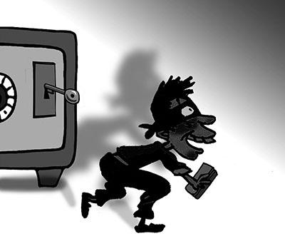 男子盗窃公司保险箱 谁料错偷老婆嫁妆图片