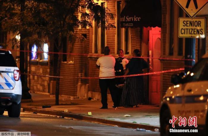 美国芝加哥犯罪率处20年低点 8月63人死于枪击