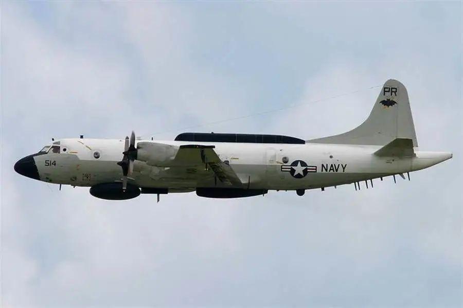 """美国海军EP-3电子侦察机(图源:台湾""""中时新闻网"""")"""