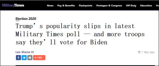 这个民调假不了:连他们都不支持特朗普了