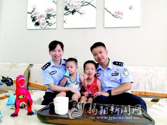 """揭阳市""""十大抗疫最美家庭""""陈桂城家庭:一身警服  两倍担当"""