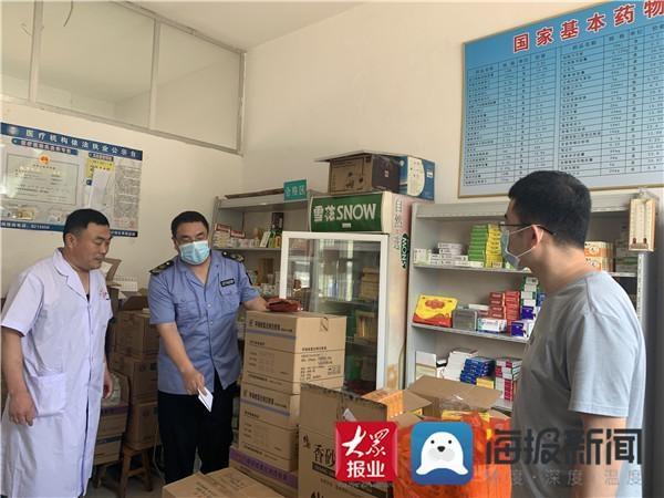 阳信文电市场正在努力开展辖区内的药品