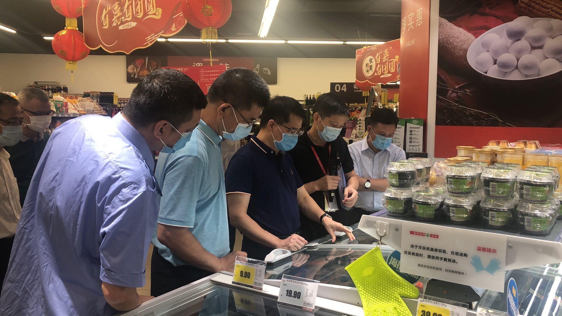 罗晃浩副市长率队到大朗镇开展中秋国庆节前疫情防控和食品安全督导检查