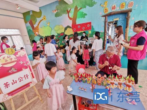 醒狮表演、手工制作,非遗进校园活动走进东莞市机关第二幼儿园