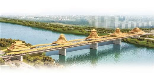 柳江河架起世界最大风雨桥