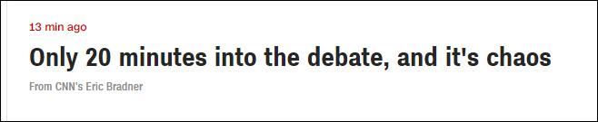 """""""才开始20分钟,美国大选辩论就已经陷入混乱"""""""