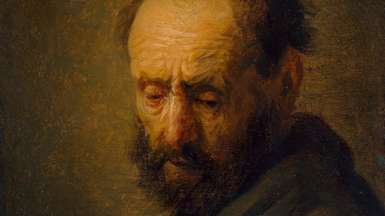 """《大胡子男人头像》( """"Head of a Bearded Man"""")(局部)"""