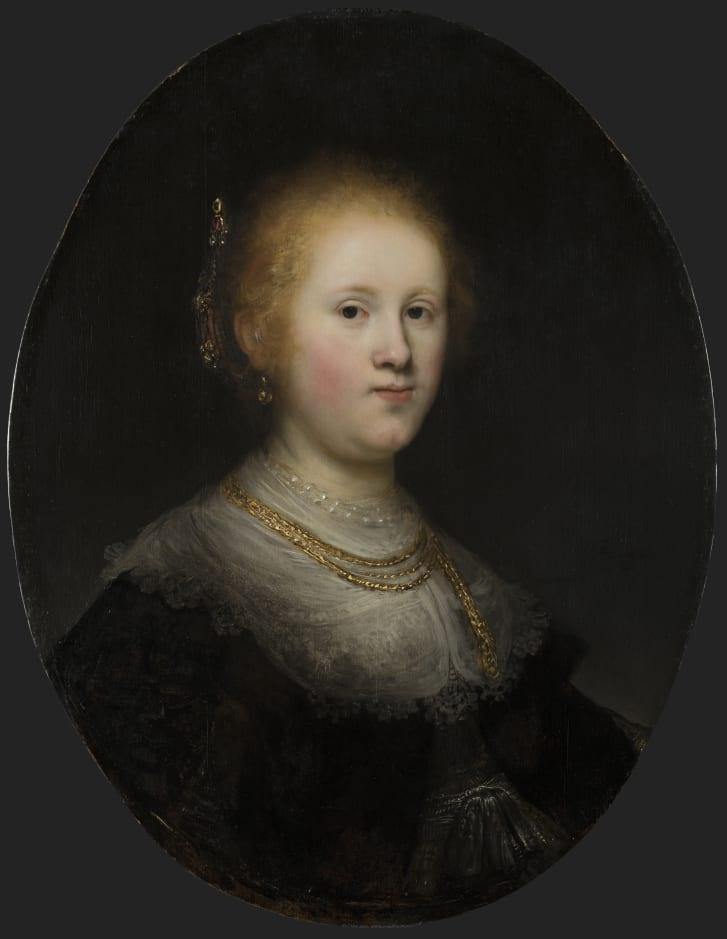 伦勃朗《年轻女子肖像》