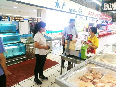侯马市市场部局发展处对辖区内海鲜食品