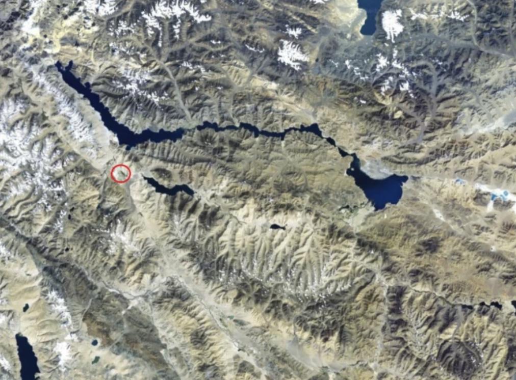 图中圆圈就是楚舒尔地区的大概位置