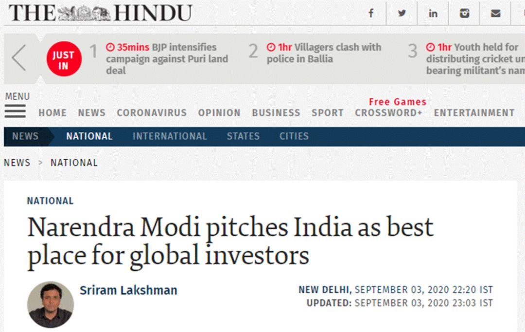 《教徒报》:莫迪将印度当成全球投资者的最佳去处