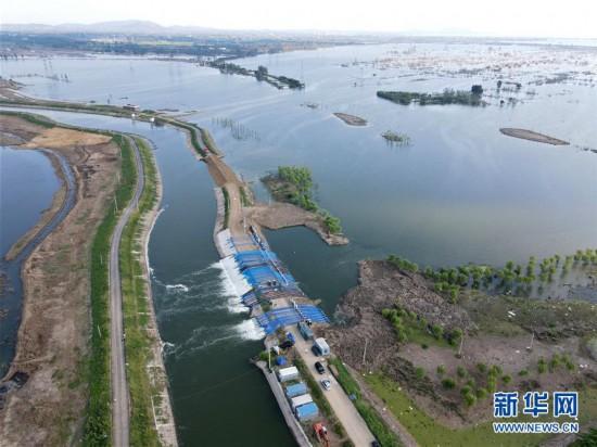 安徽:十八联圩生态湿地蓄洪区开机排涝